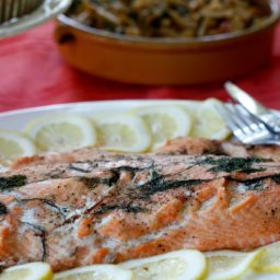 Salmon with Dill, Lemon & Garlic Butter