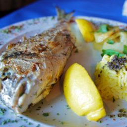 Whole Bream Fish with Roasted Fennel